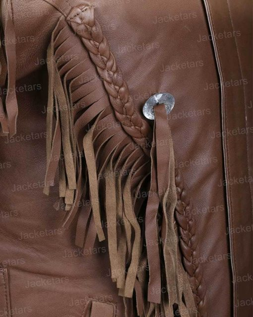 Joe Tiger King Murder Mayhem Madness leather brown Jacket.jpg