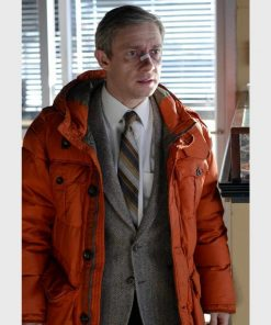 Lester Nygaard Fargo Orange Jacket