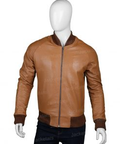 Mens Bomber Tan Brown Jacket
