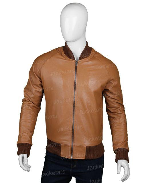 Mens Bomber Tan Brown Jacket