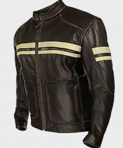 Mens Café Racer Brown Jacket