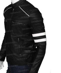 Mens Cafe Racer Retro Black Leather Jacket.jpg