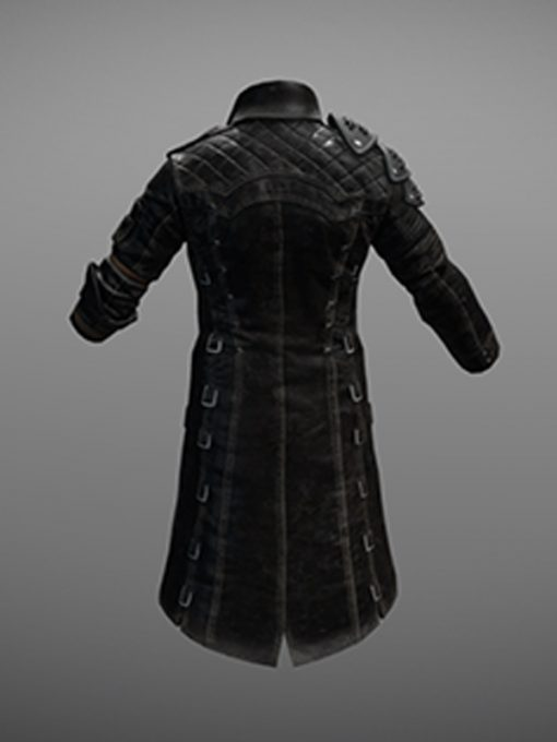 PUBG Black Leather Coat