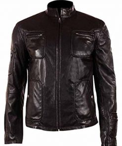 Star Trek Captain Kirk Cafe Racer Leather Jacket
