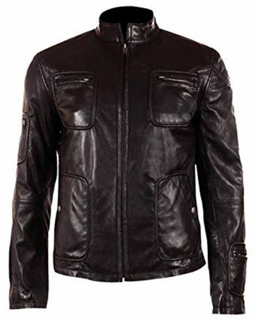 Star Trek Captain Kirk Cafe Racer Leather Jacket