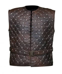 Vikings Bjorn Lothbrok Leather Vest