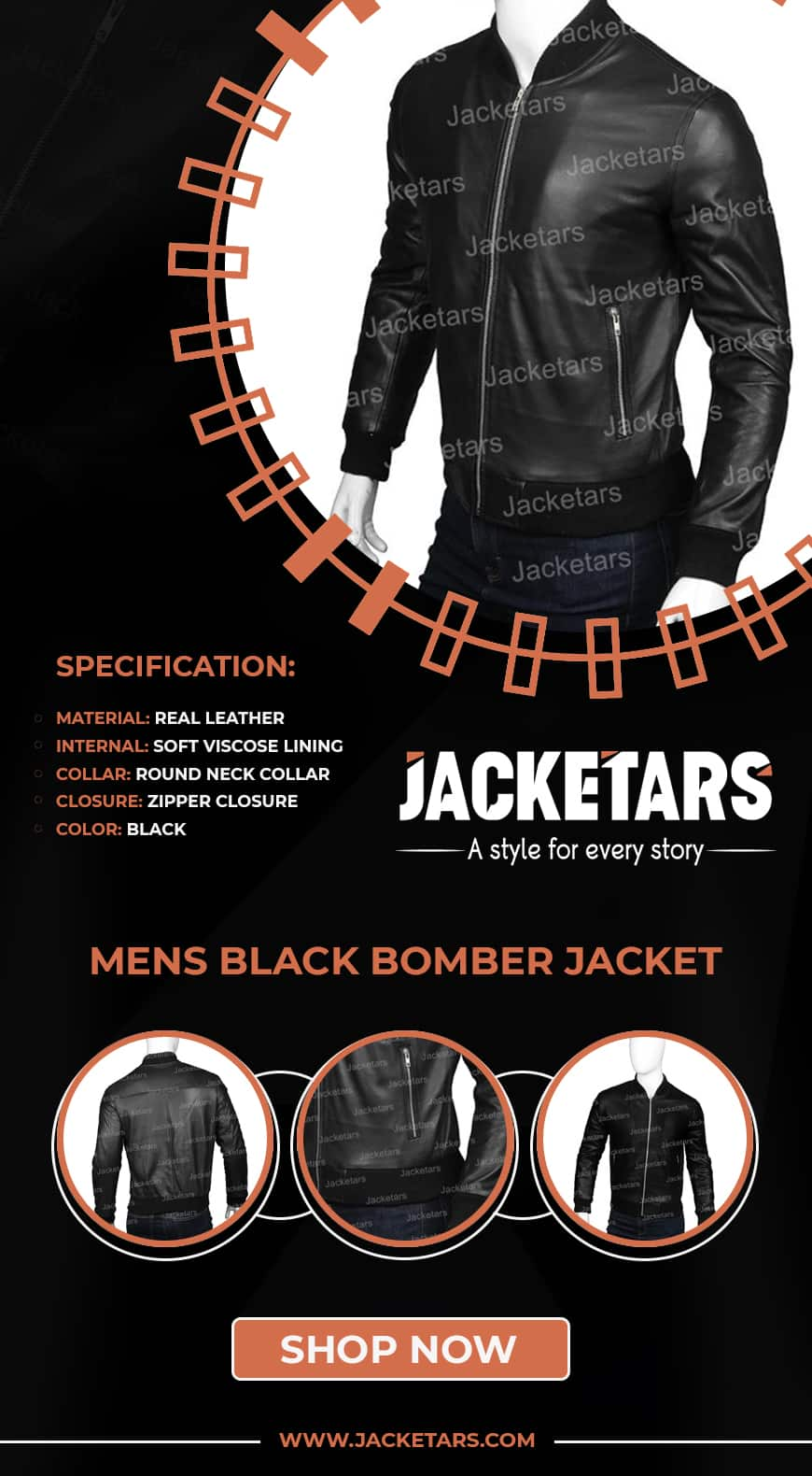 mens black bomber jacket-min
