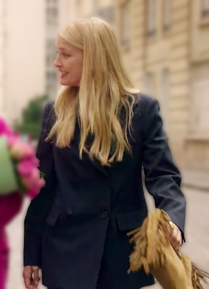 Camille Razat Emily in Paris Black Coat