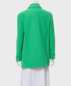 Emily Cooper Emily In Paris Green Wool Coat