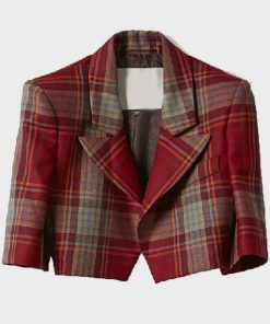 Emily Cooper Emily In Paris Red Plaid Jacket