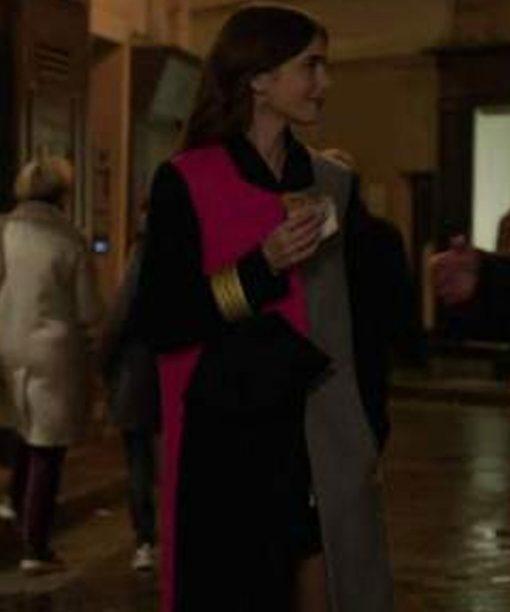 Emily In Paris Color Block Coat