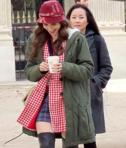 Emily In Paris Green Hooded Coat