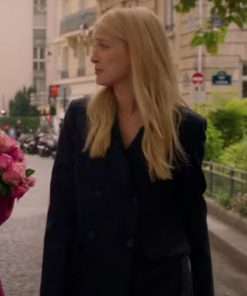 Emily in Paris Camille Razat Black Coat
