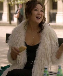 Emily in Paris Mindy Chen Fur Coat