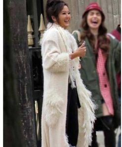 Emily in Paris Mindy Chen White Fur Coat