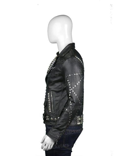Mens Biker Studded Leather Black Jacket.jpg