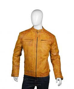 Mens Waxed Shoulder Tan Brown Jacket