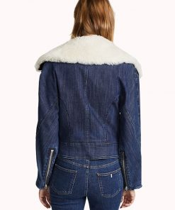 Pretty Little Liars Ava Jalali Denim Shearling Jacket
