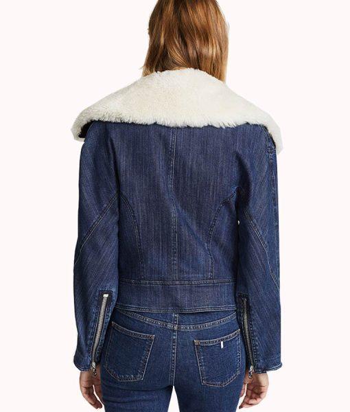 Pretty Little Liars Ava Jalali Denim Shearling Jacket