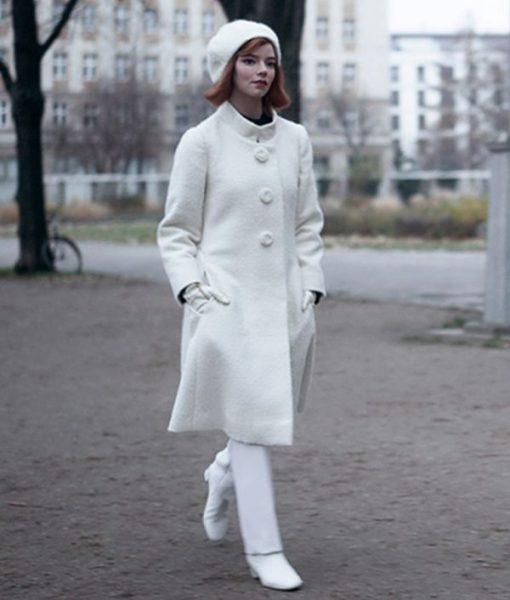 Beth Harmon The Queen's Gambit White Coat