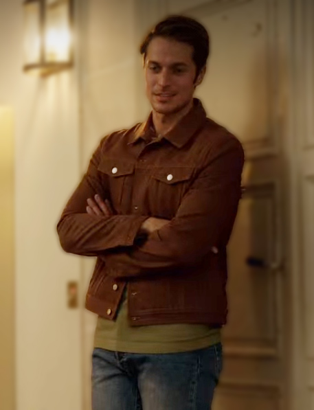 Gabriel Emily in Paris Jacket Brown Denim Jacket