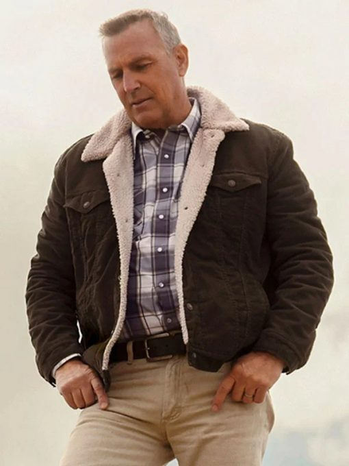 Kevin Costener Let Him Go Shearling Jacket