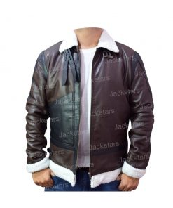 Mens Aviator B3 Black Leather Jacket