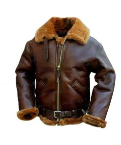 Mens Aviator Shearling Leather Jacket