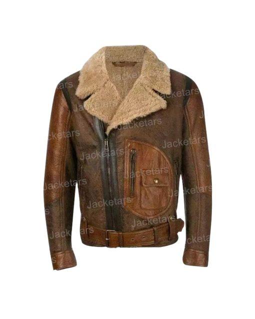Mens Brown Shearling Jacket