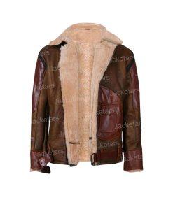 Mens Brown Shearling Sheepskin Leather Jacket.jpg