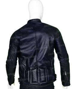 Mens Cafe Racer Navy Blue Leather Biker Jacket.jpg