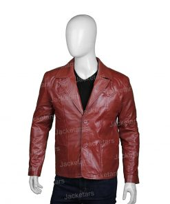 Mens Classic Brown Leather Blazer