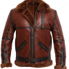 Mens RAF Shearling Aviator Jacket