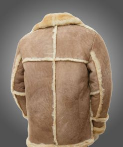 Mens Sheepskin Brown Fur Coat