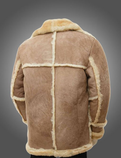 Mens Sheepskin Brown Fur Coat