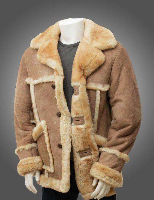 Mens Sheepskin Fur Coat