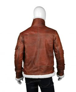 Mens RAF B3 Aviator Brown Shearling Jacket .jpg