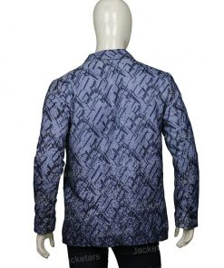 Samuel Arnold Emily in Paris Blue Pattern Blazer