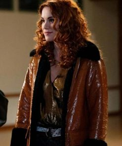 Supernatural S15 Anael Shearling Coat
