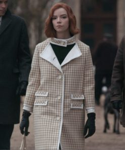 The Queen's Gambit Anya Taylor-Joy Checkered Coat