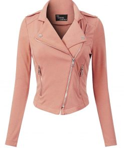 Womens Pink Leather Jacket