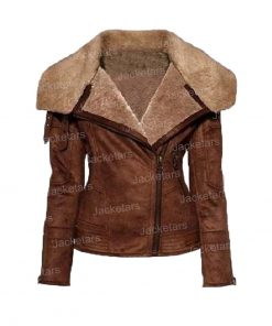 Womens Shearling Aviator Jacket