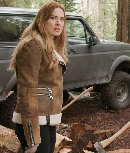 Melinda Monroe Virgin River Shearling Jacket