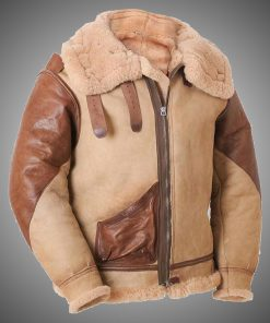 Mens Pilot B3 Brown Tan Leather Jacket