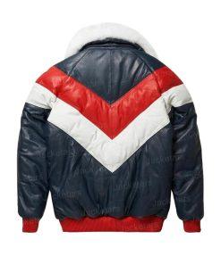 Mens V-Bomber Lambskin Jacket