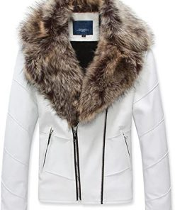 Womens Winter Faux Leather Jacket