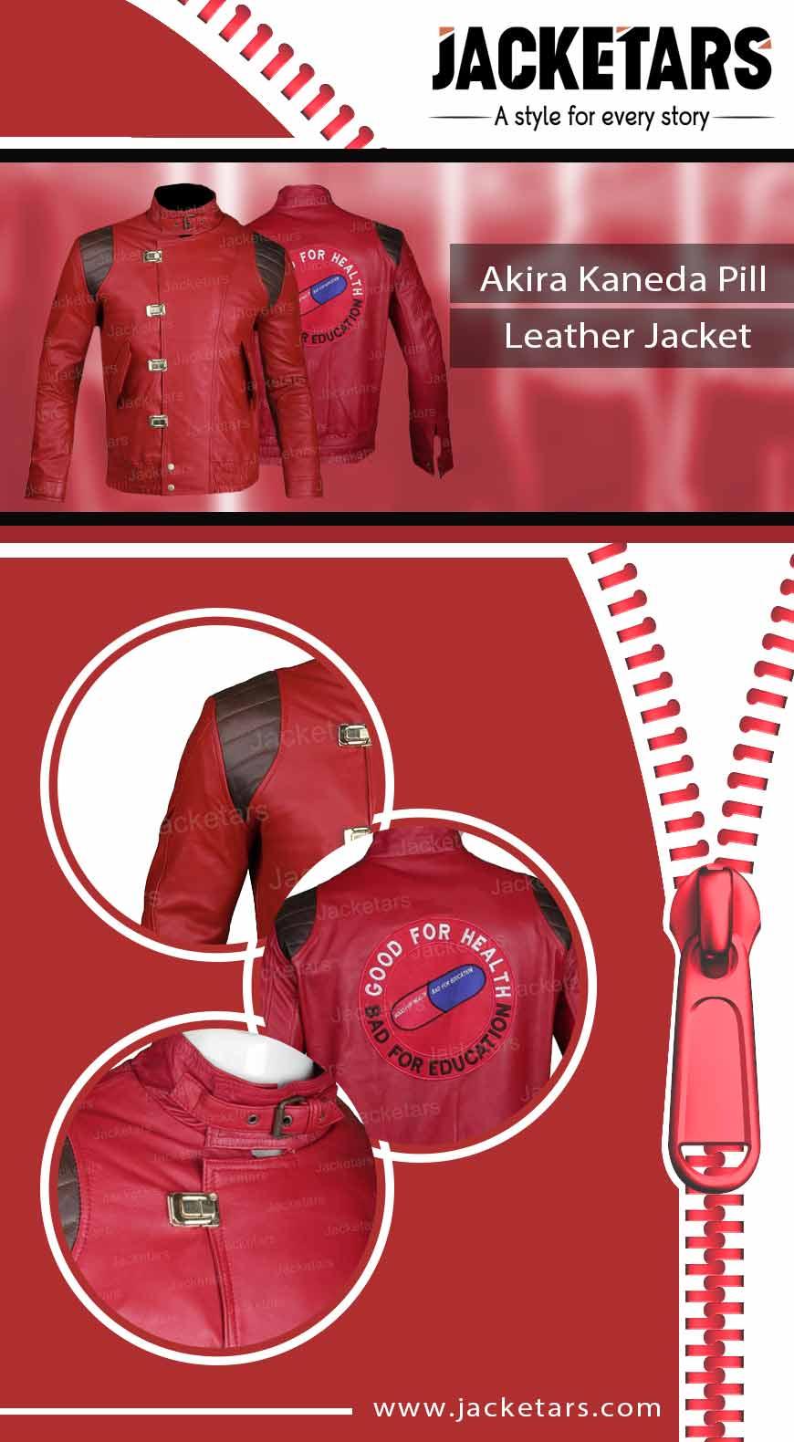 Akira Kaneda Pill Leather Jacket info