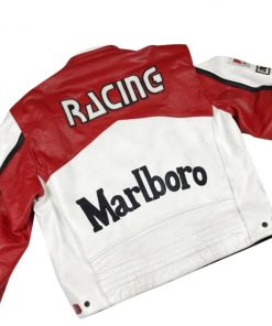 Marlboro Racing White Leather Jacket