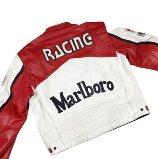 Marlboro Racing White Leather Jacket