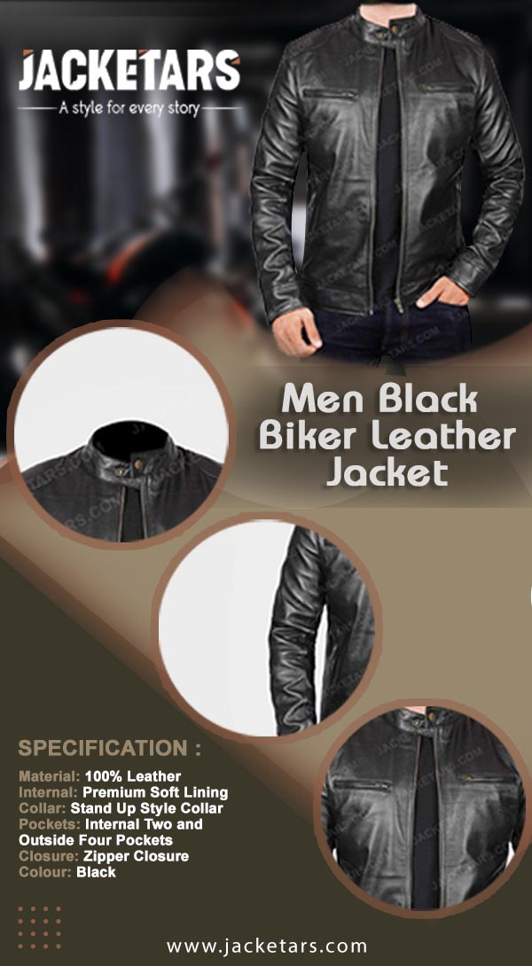 Black Cafe Racer Jacket